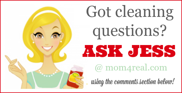 Got cleaning questions? You can ask Jess from the Mom 4 Real Blog and get the answers you've been waiting for!