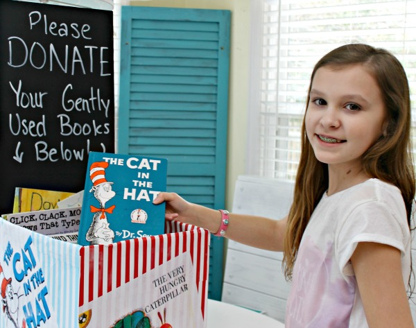 Make A Book Donation Station - Encourage Giving In Tweens!