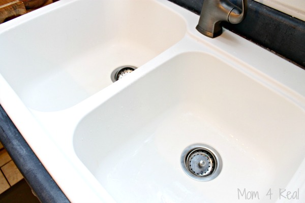 Clean Ceramic Sinks In Kitchen How to clean a ceramic sink or porcelain sink mom 4 real how to clean a ceramic sink workwithnaturefo
