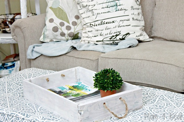 Wine Crate Serving Tray - Thrifty DIY