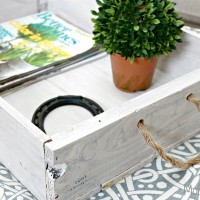 Wine Crate Serving Tray – Thrifty DIY