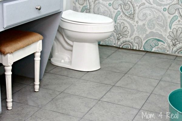 grey tile floors