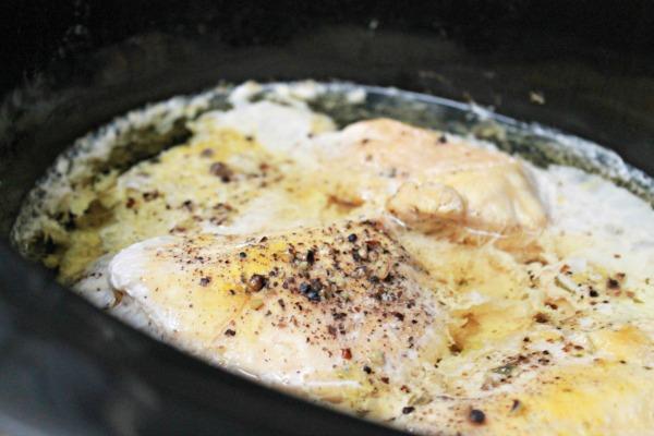 Slow Cooker Shredded Chicken From Frozen Chicken Breasts