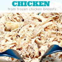 Slow Cooker Shredded Chicken From Frozen Chicken Breasts