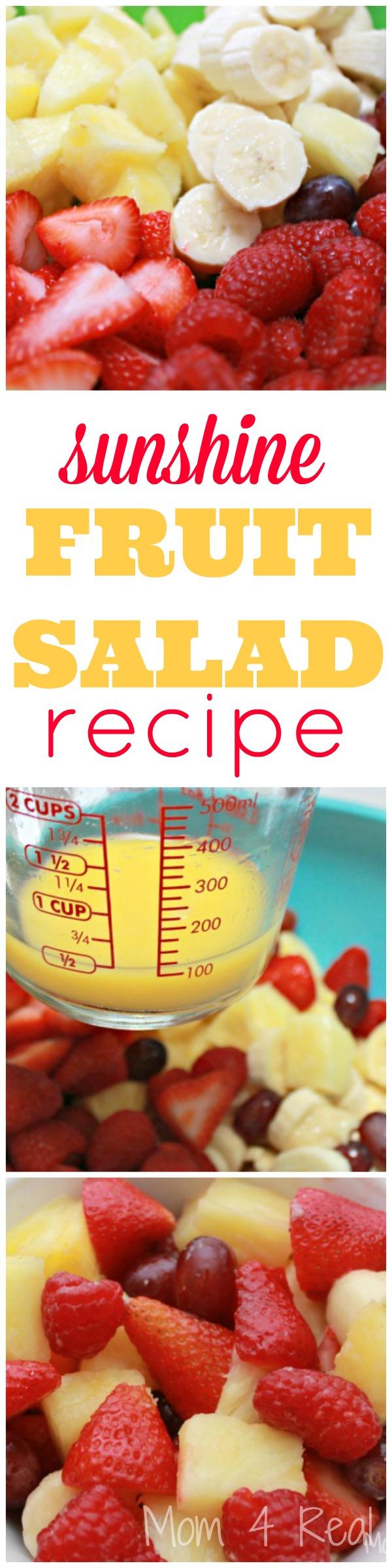 Sunshine Fruit Salad Recipe @ Mom 4 Real