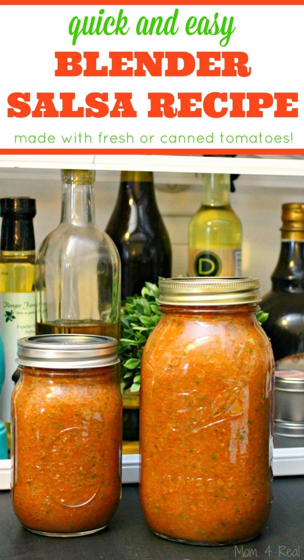 Easy Homemade Blender Salsa Recipe