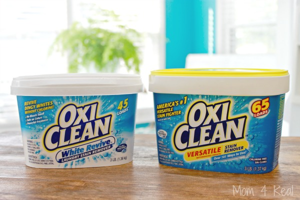 I've shared many different laundry detergents and stain removers. Recently, I started adding OxiClean to my homemade ...
