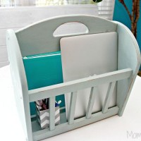 Old Magazine Rack Turned Into A Portable Office