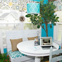 Creating A Place To Study In Our Breakfast Nook