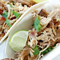 Slow Cooker Carnitas Pork Tacos