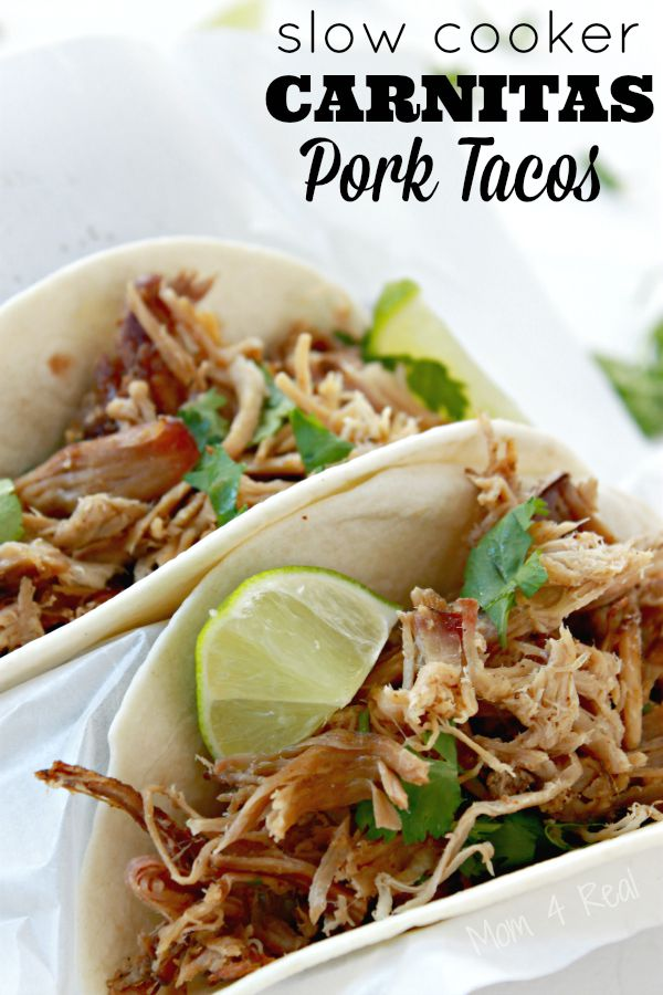 These slow cooker carnitas pork tacos are sure to become a family ...