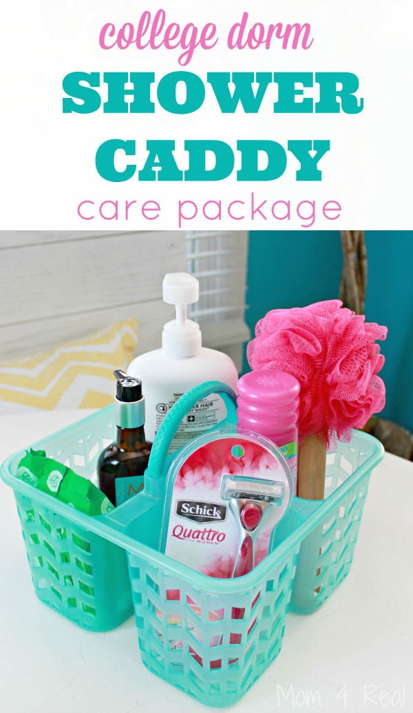 College Dorm Shower Caddy Care Package Idea  Mom 4 Real ~ 074128_Dorm Room Gift Basket Ideas