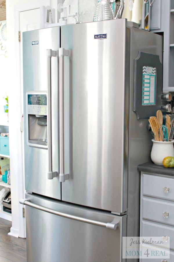 http://www.mom4real.com/wp-content/uploads/2015/09/Clean-Smudge-Free-Stainless-Steel-Refrigerator.jpg