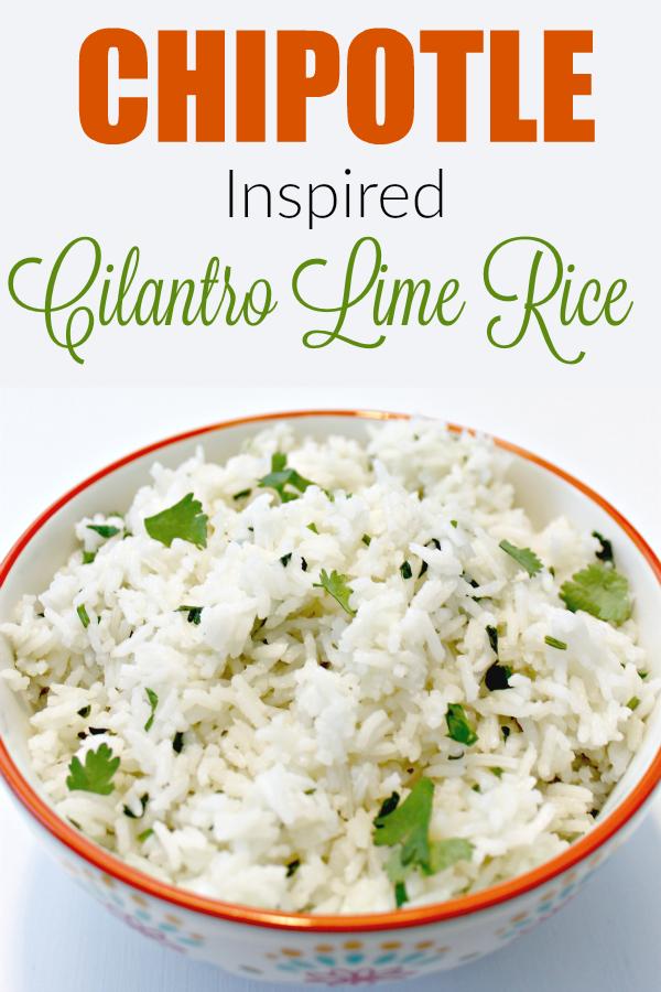 Chipotle Inspired Cilantro Lime Rice