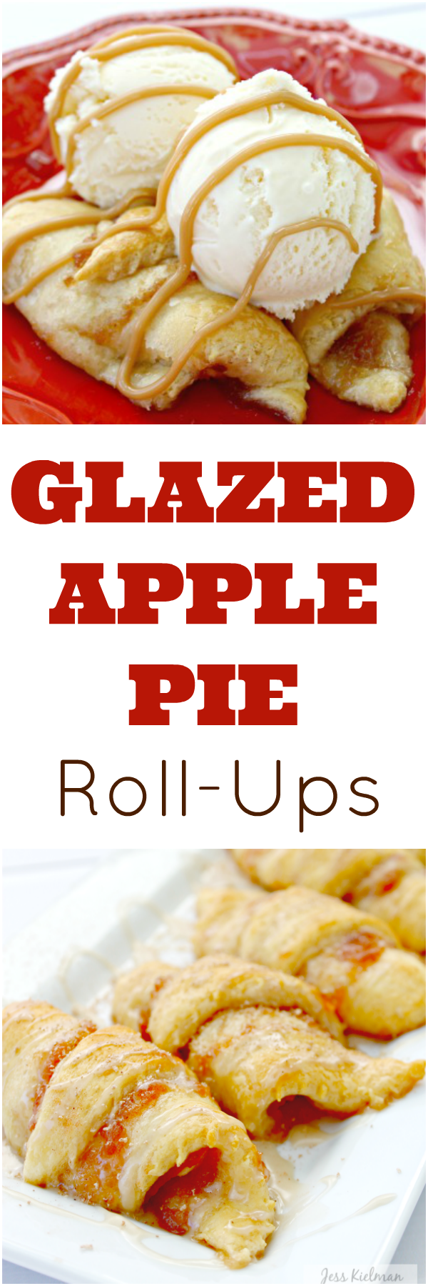 If you love apple pie, you are going to flip over these easy Glazed Apple Pie Roll-Ups! They are delicous and only take a few minutes to prepare!