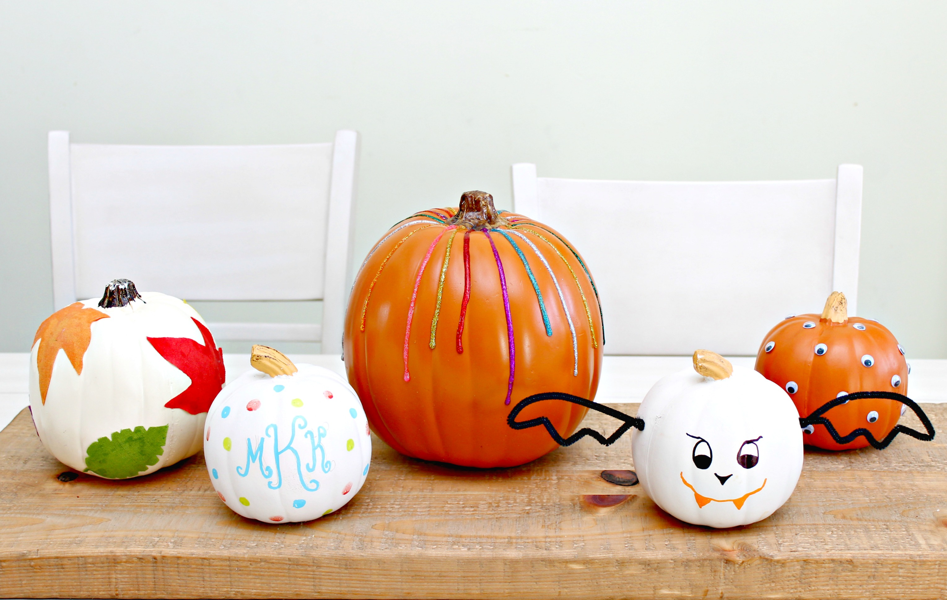 Halloween Pumpkin Decorating Ideas No Carving