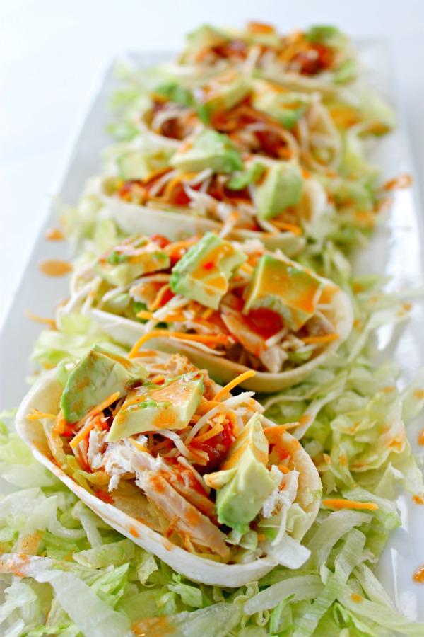 Sriracha Chicken Taco Boats