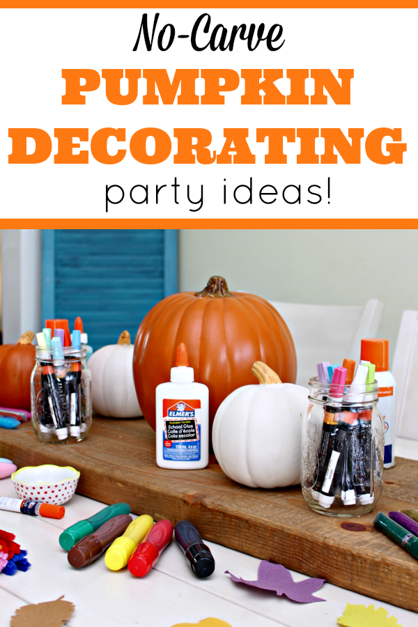 No Carve Pumpkin Decorating Ideas - Mom 4 Real : Easy Pumpkin Decorating Ideas For Toddlers For Kids