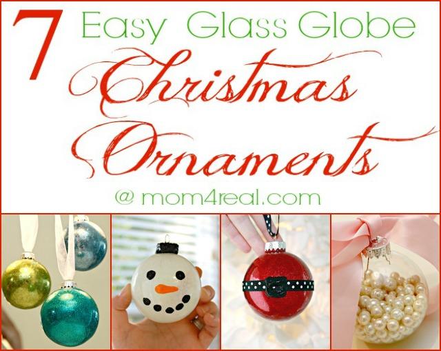 7 Easy DIY Glass Globe Christmas Ornament Ideas