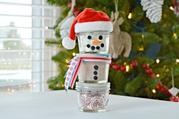 Hot Chocolate Mason Jar Snowman Gift