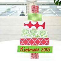 Christmas Tree Door Hanger Craft For Kids