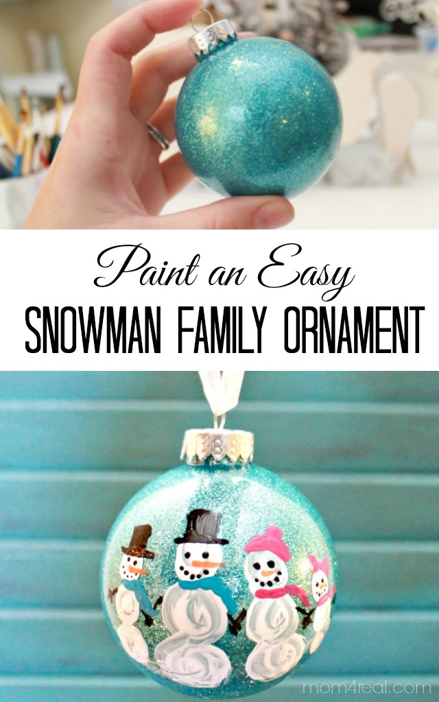 DIY Painted Snowman Family Christmas Ornament - Mom 4 Real