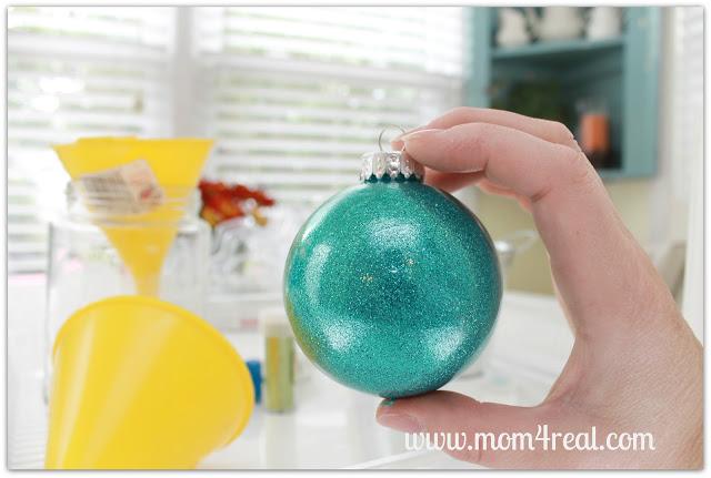 DIY Glitter In Glass Christmas Ornaments