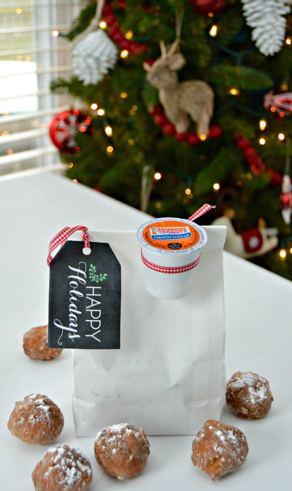 Coffee and Donuts Gift Idea with Free Printable Gift Tags - Mom 4 Real