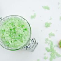 DIY Coconut Lime Moisturizing Sugar Scrub