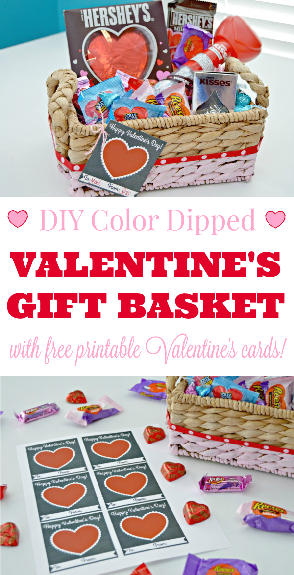 Color Dipped Valentines Day Gift Basket Mom 4 Real