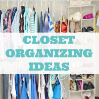 Easy Closet Organization Ideas and tons more home tips!