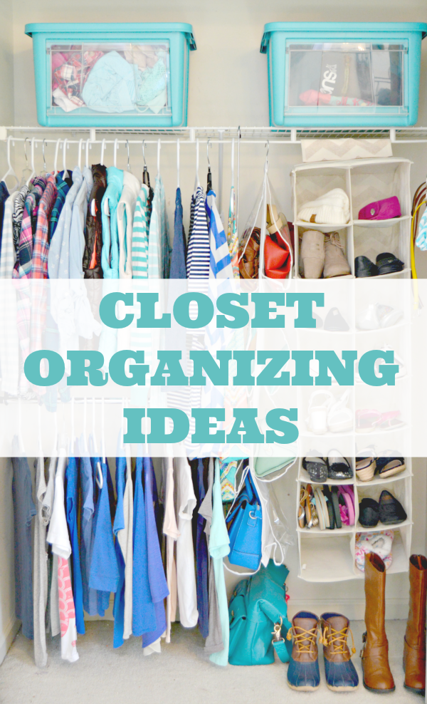 Easy closet organization ideas mom 4 real for Organizing ideas for closets