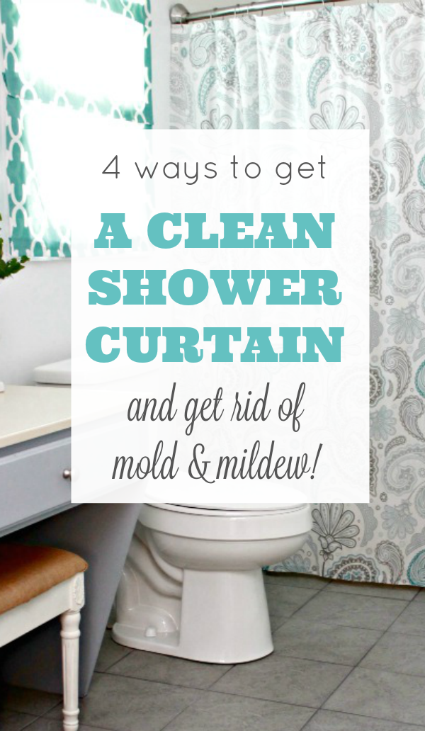 4 Ways To Get A Clean Shower Curtain - Mom 4 Real