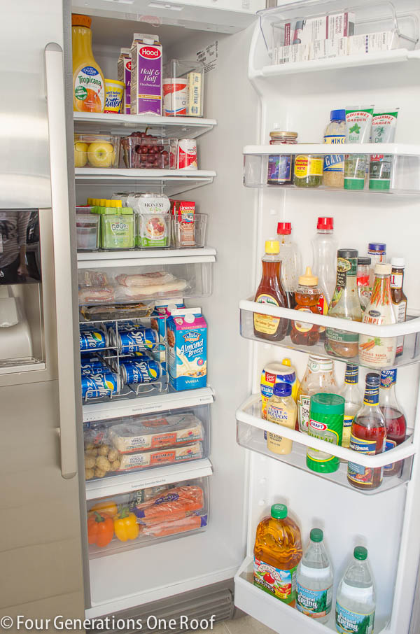 Refrigerator Organization by Mom 4 Real
