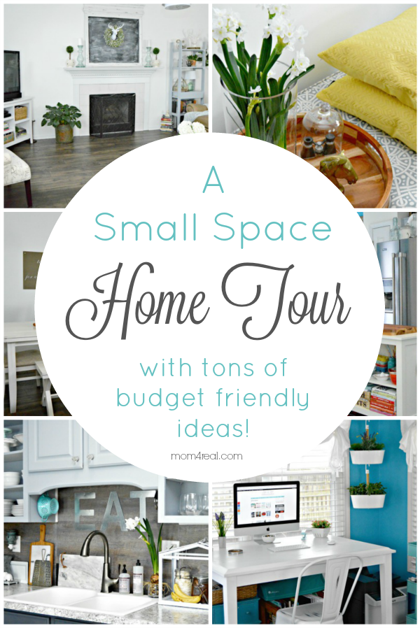 12 Small Space Home Tours with tons of budget friendly ideas! These small houses show that you can love the home you have and make the most of your small space with tons of storage and DIY ideas.