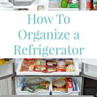 Refrigerator Organization Tips and More