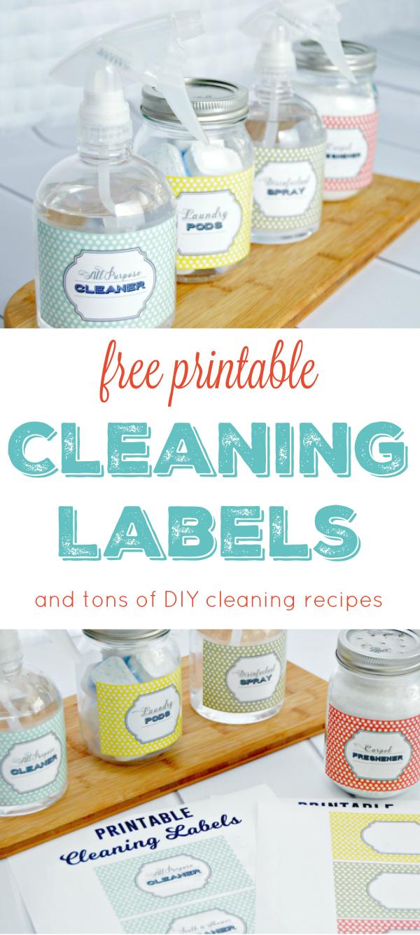 Free Printable Cleaning Labels - Mom 4 Real