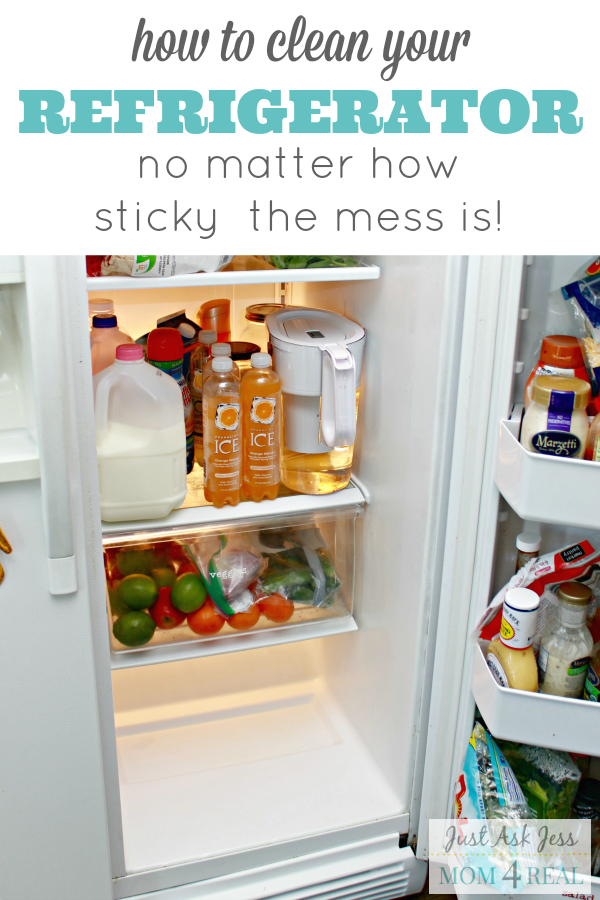 How to clean the stickiest of messes out of your refrigerator.