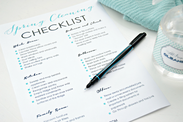 Printable Spring Cleaning Checklist Mom 4 Real – Cleaning Checklist
