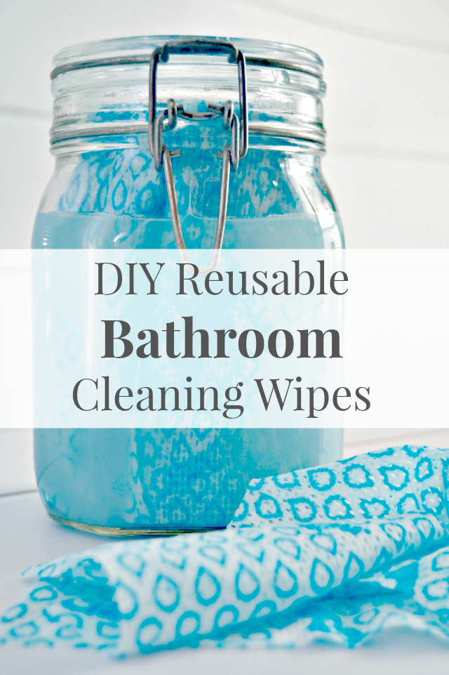 DIY Reusable Bathroom Cleaning Wipes - Cleaning Hack from Mom 4 Real