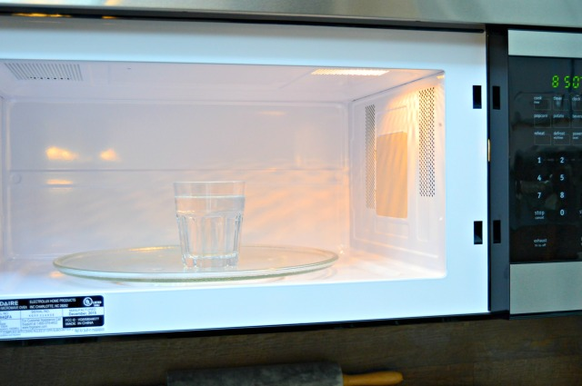 Vinegar is great for cleaning microwaves.