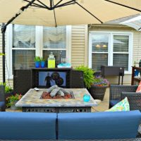 Our Shaded Summer Patio Makeover