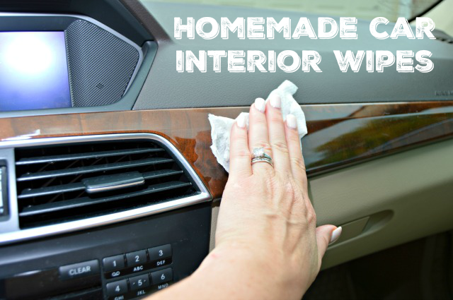 make your own car interior wipes mom 4 real. Black Bedroom Furniture Sets. Home Design Ideas