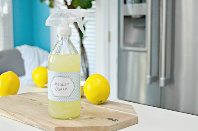 How to make a glass spray bottle for homemade cleansers. A great way to make your own for cheap so you can properly store your homemade cleaning sprays and more!