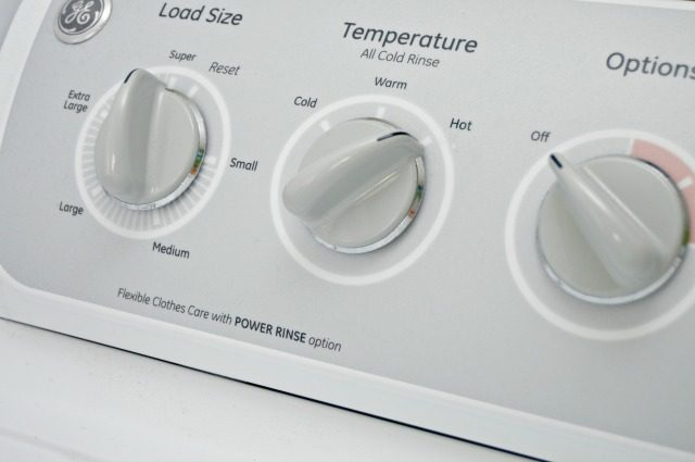 washing machine set to hot