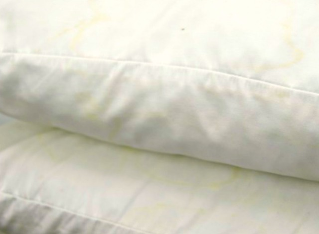 dirty bed pillows
