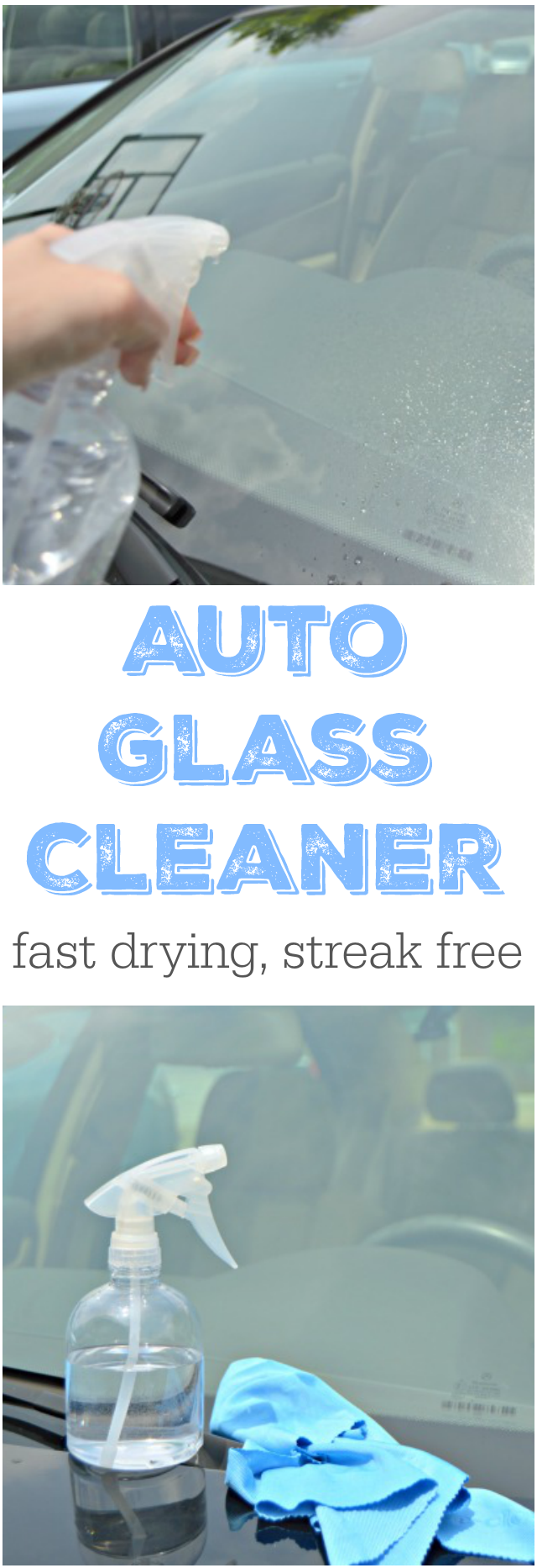 How To Make Auto Glass Cleaner - Mom 4 Real