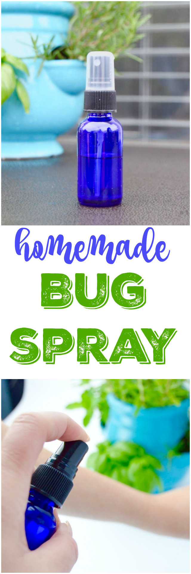 Homemade Bug Spray - Repels Mosquitoes and other biting bugs! No harmful chemicals - all natural.