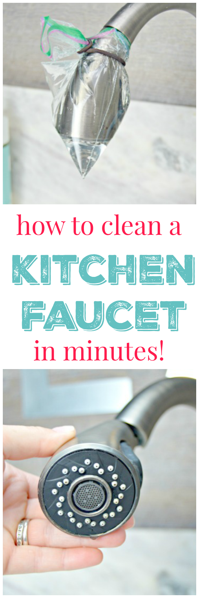 How to get your kitchen faucet clean mom 4 real for How to clean your kitchen