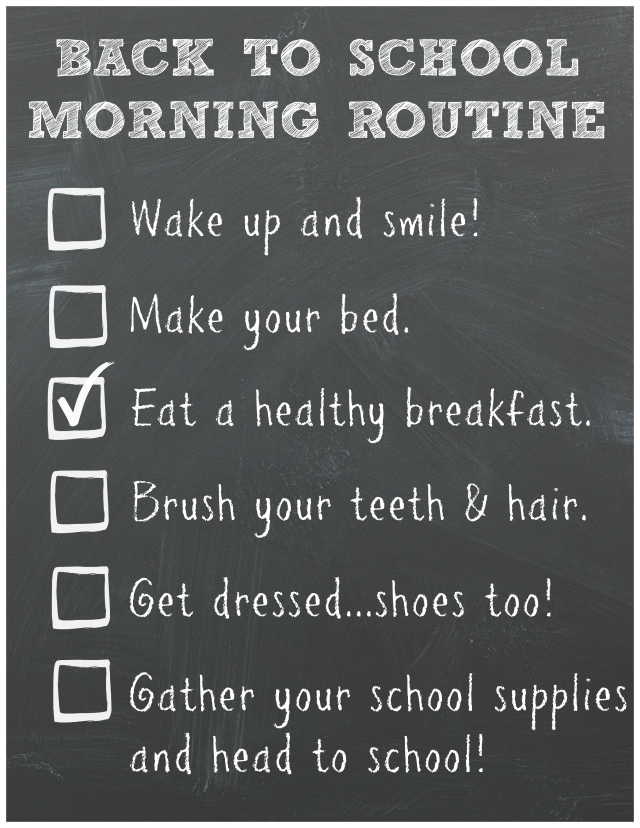 Back To School Morning Routine and Breakfast Idea